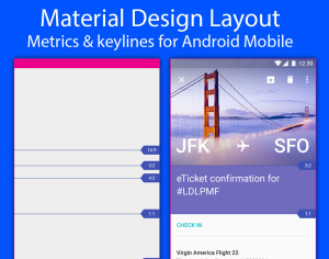 Material Design Layout – Metrics & keylines for Android Mobile