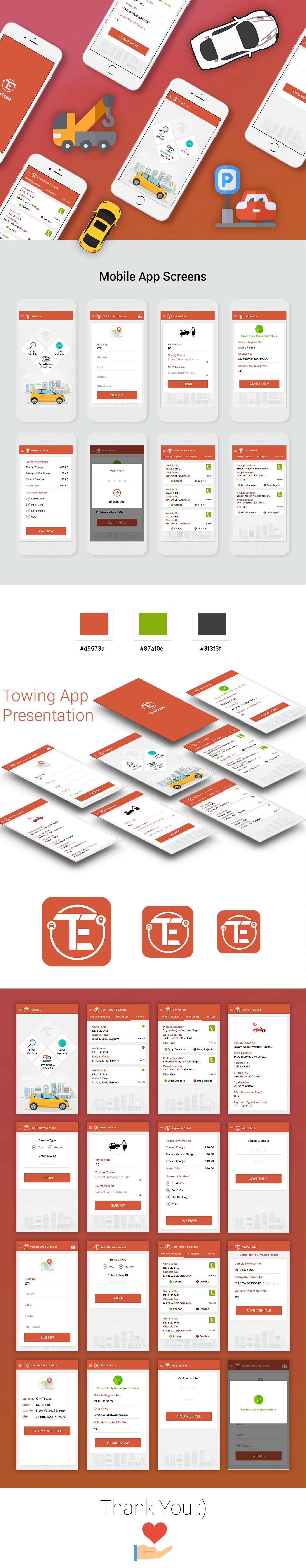 towing app psd