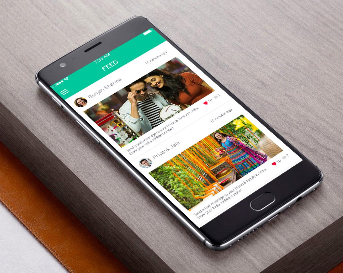 fitness social app psd for mobile application