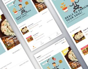 Food Delivery Mobile App Home PSD
