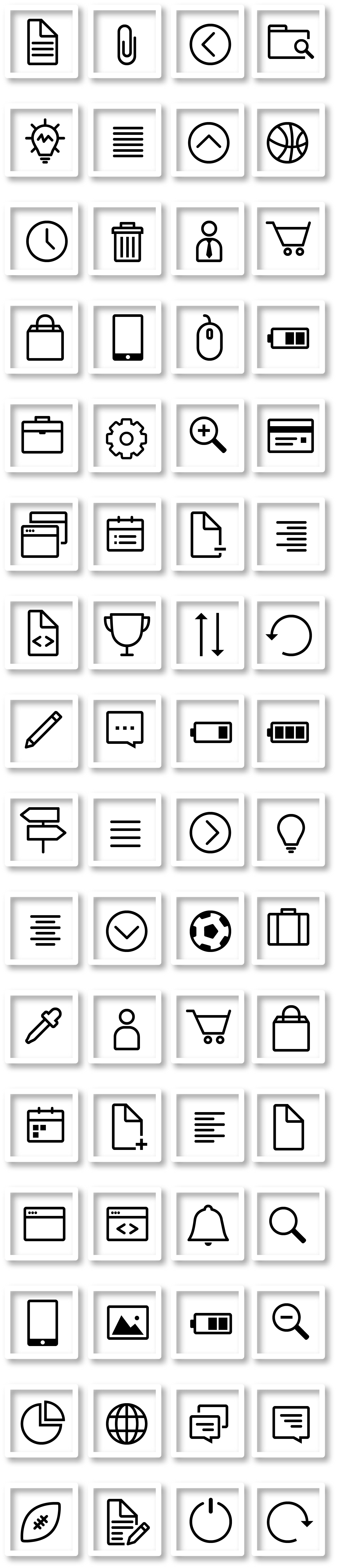 64 X-Mas Line Vector Icons