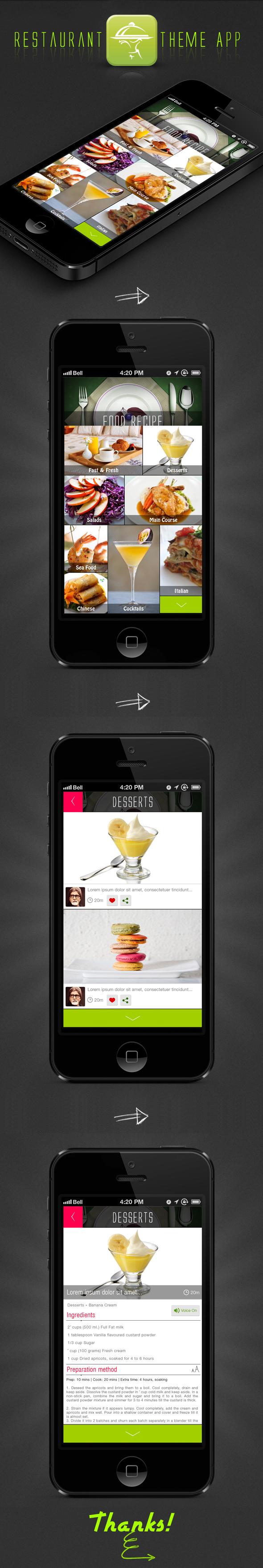 Menu App PSD