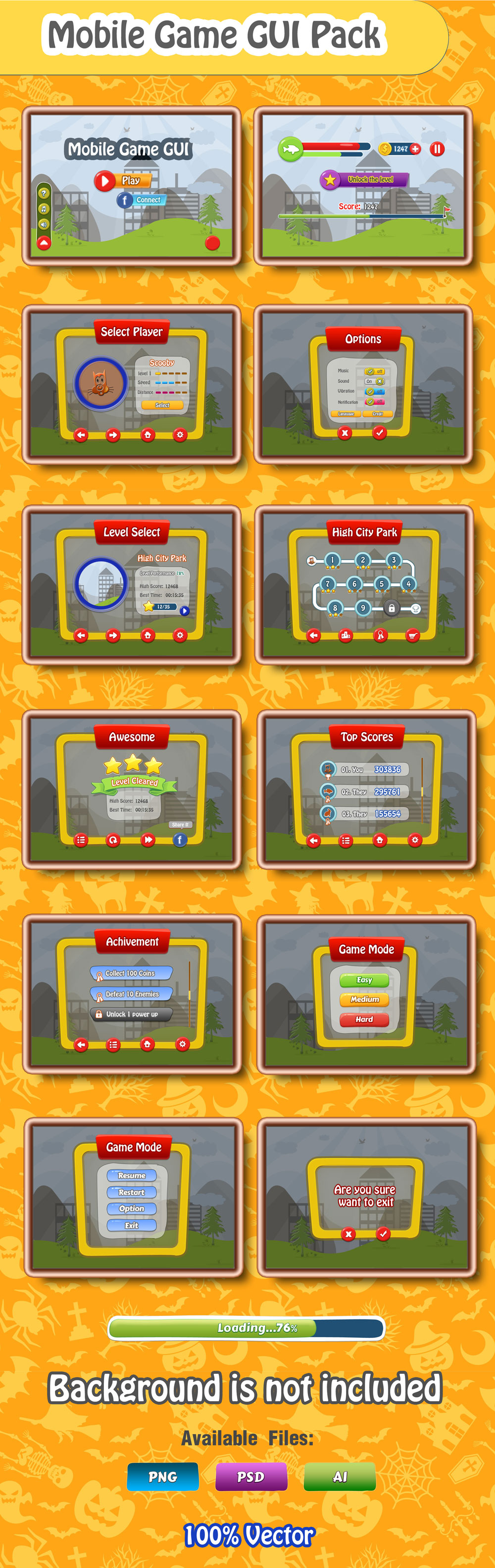 Mobile Game GUI Free Download