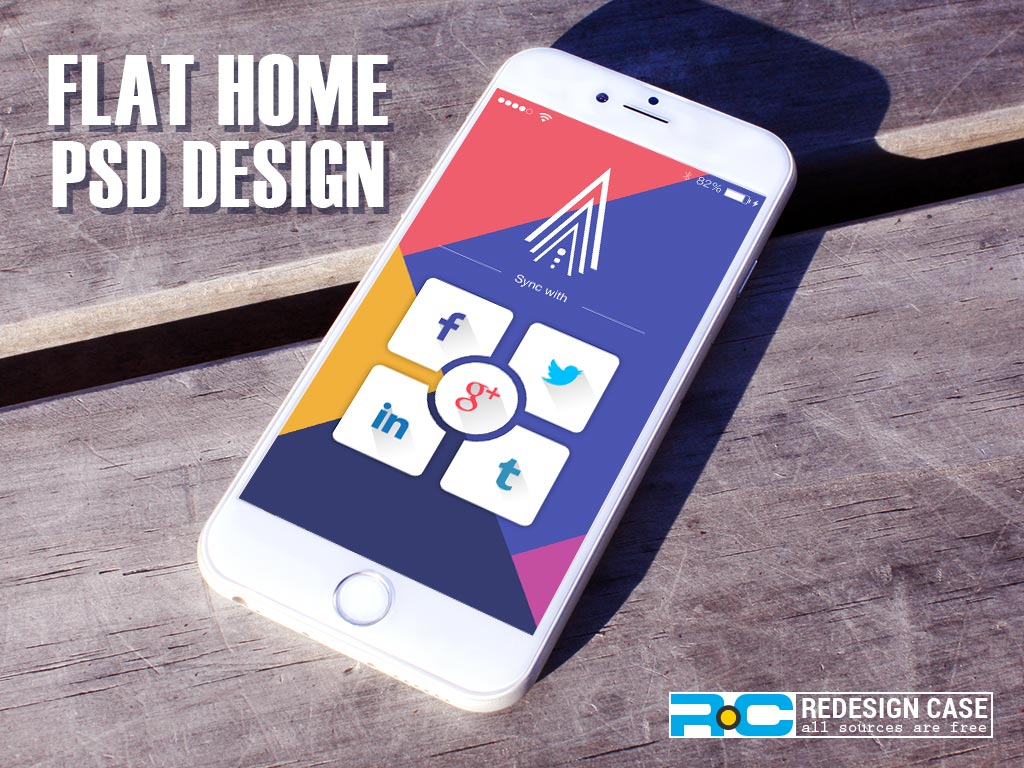 PSD Name:2 Flat Home PSD For Mobile App