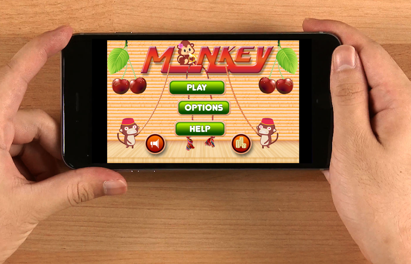 Hit the Monkey Game UI Kit for iPhone 6