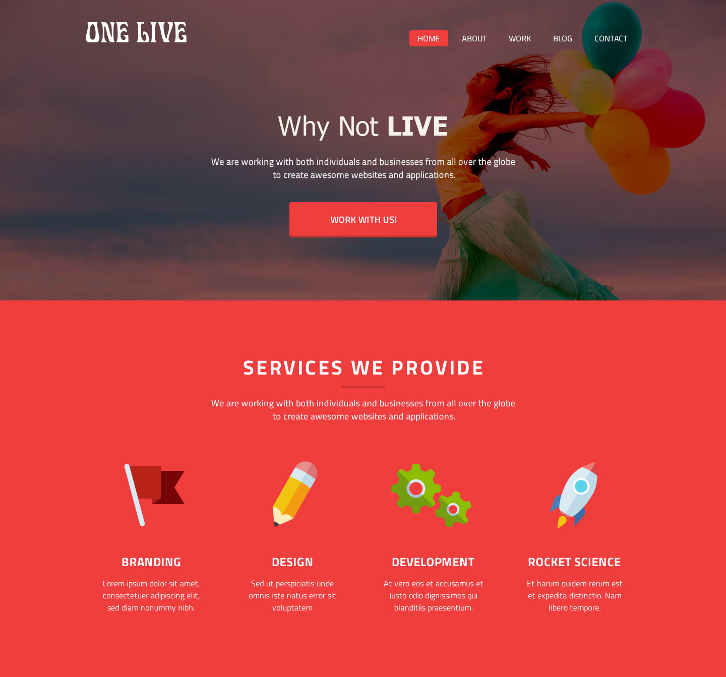 One page responsive grid template psd maxwellsz
