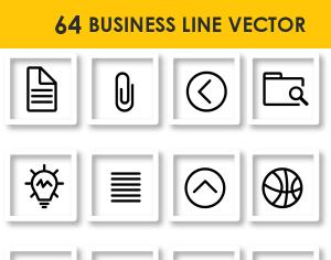 64 Business Line Vector