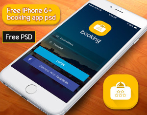 booking app psd