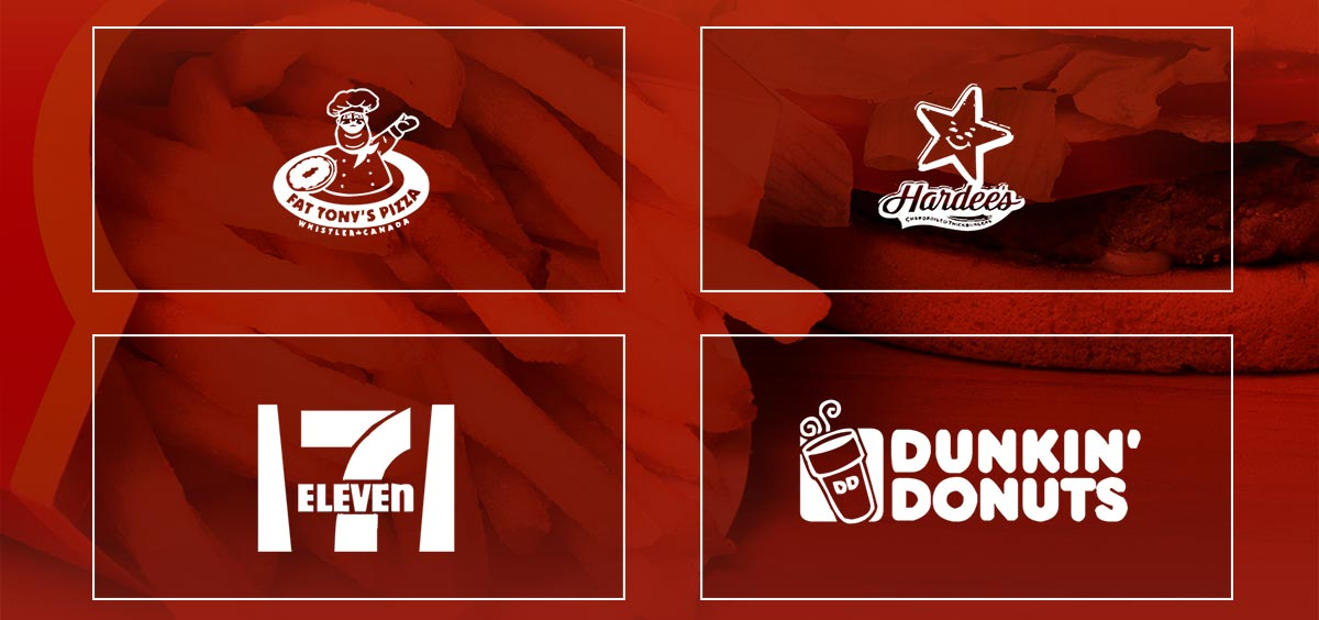 world most popular fast food company vector logos