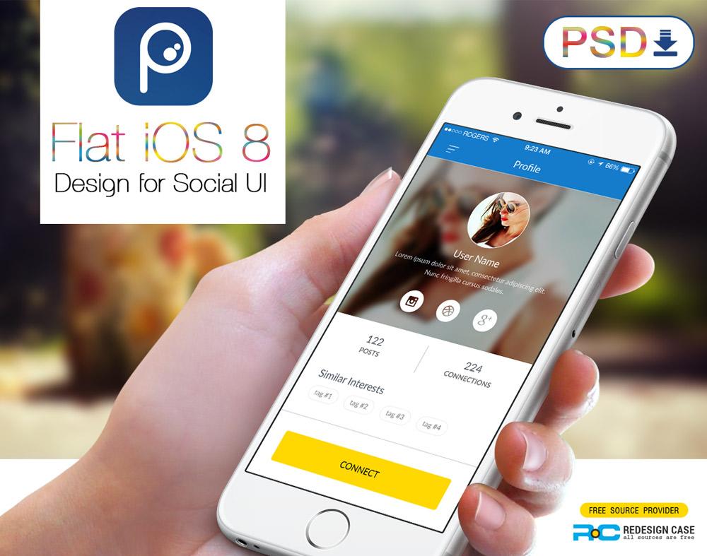 Social app psd