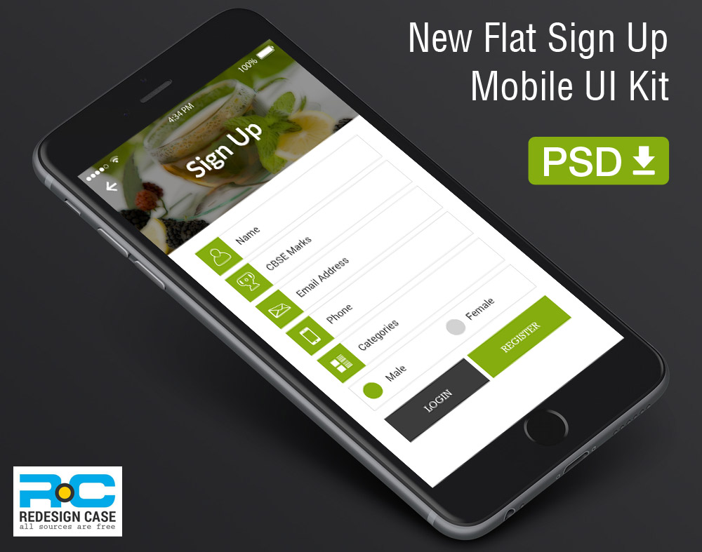 Flat-Register-UI01