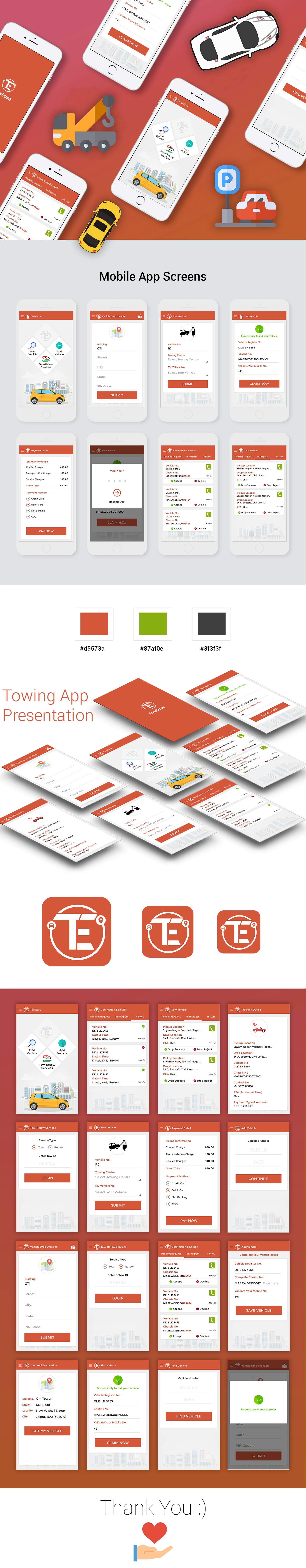 towing app psd