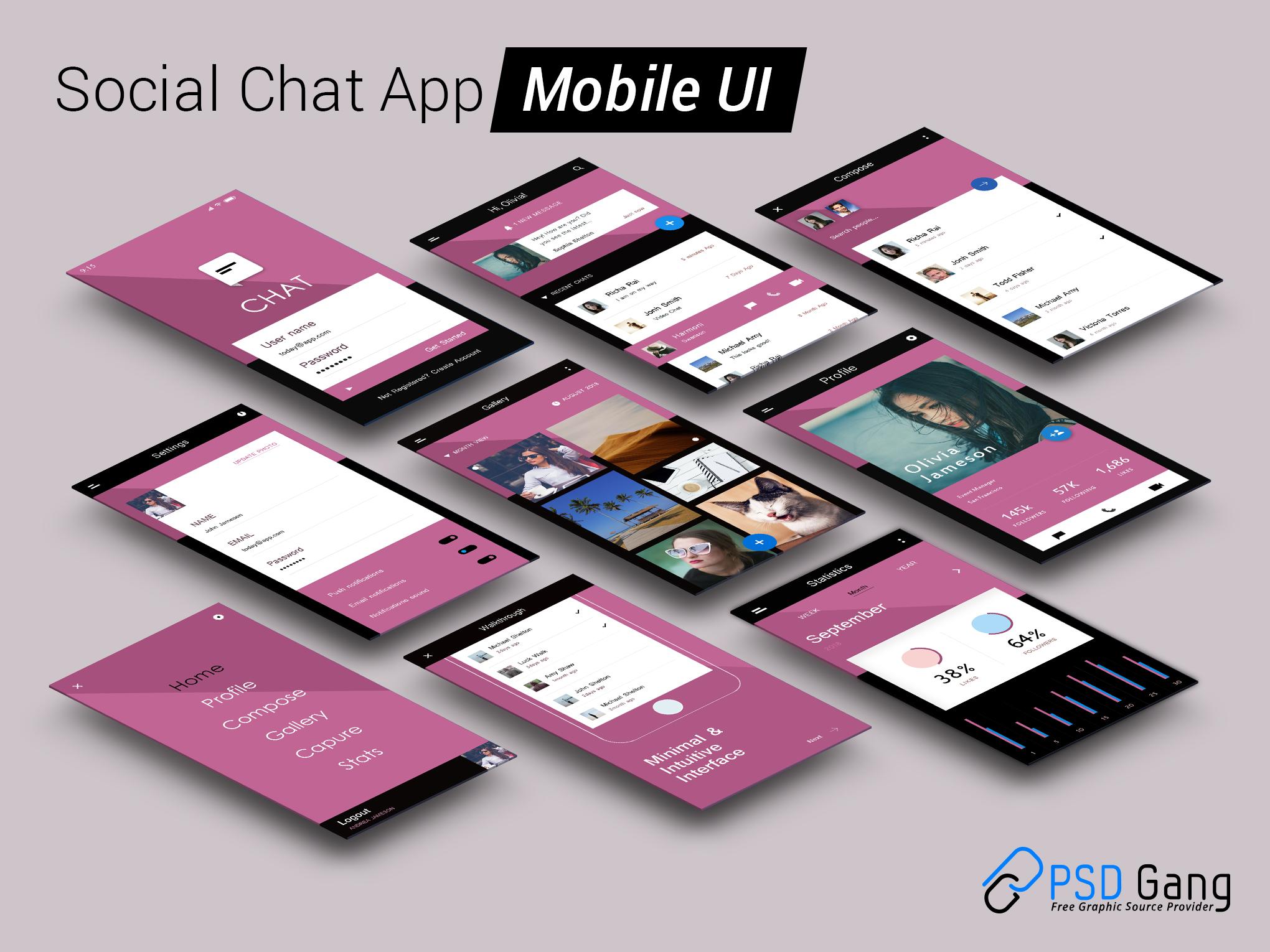 mobile app ui design psd free download