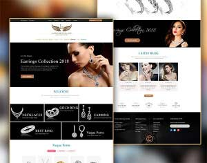 Jewellery Landing Home PSD