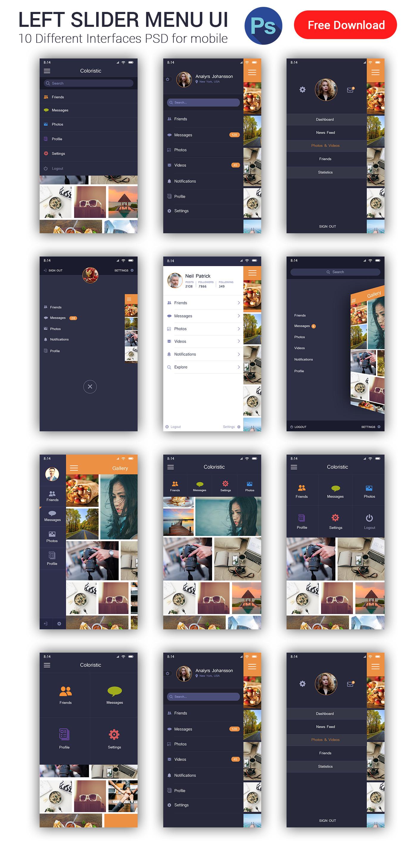 sidebar menu free download