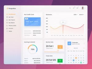 material design dashboard