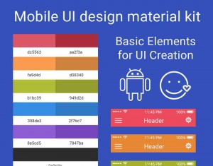 Mobile UI design material kit