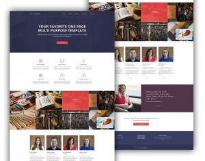 Website portfolio responsive grid layout psd