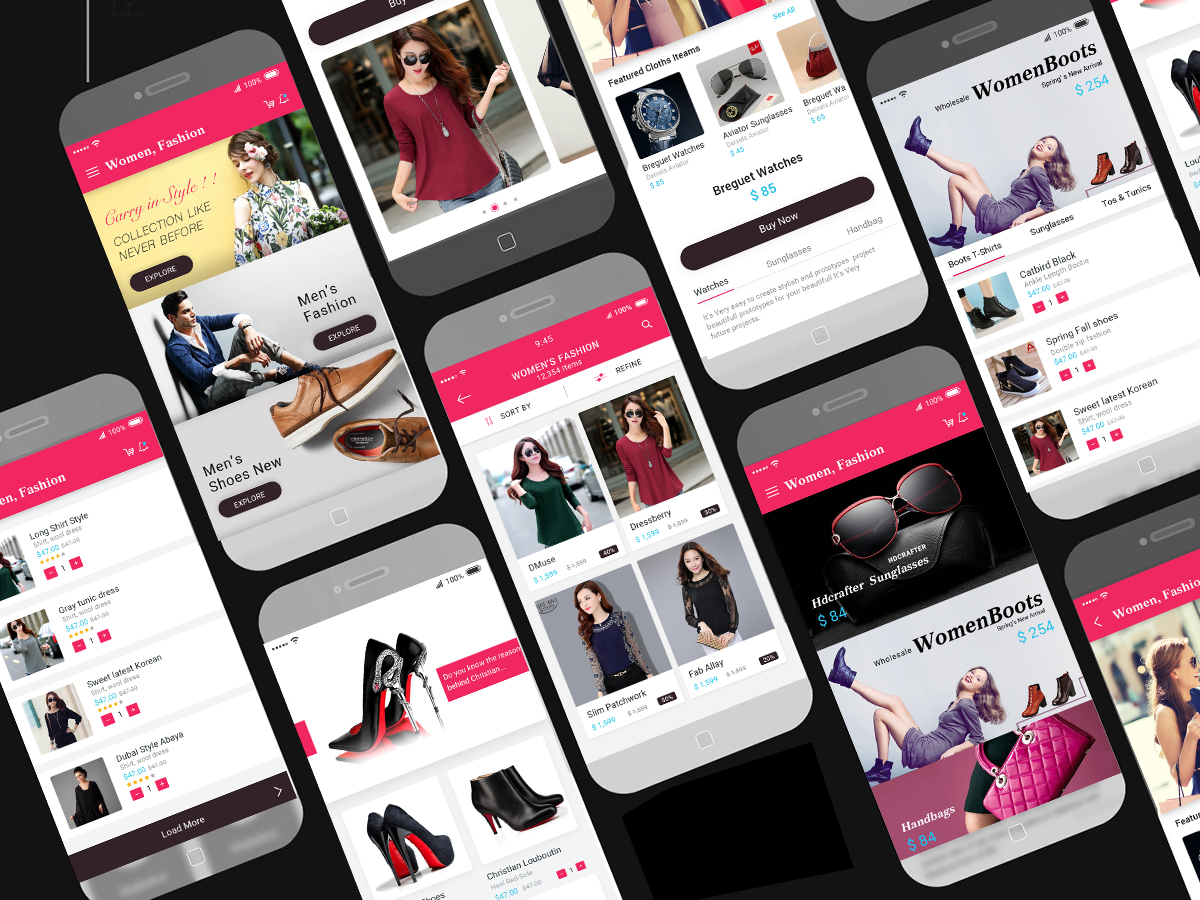 E commerce mobile app ui design psd free download for E commerce mobili