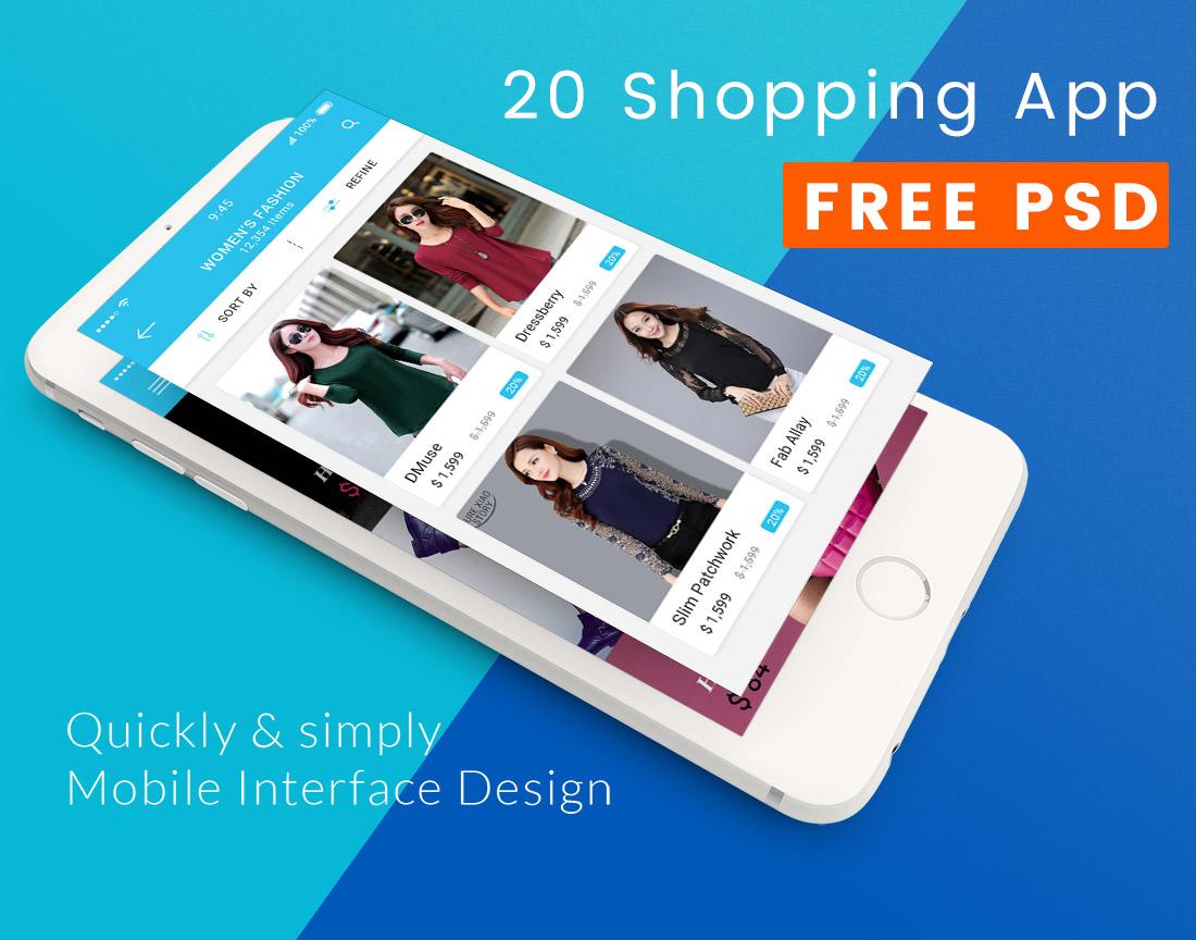 shopping-app-ui-psd