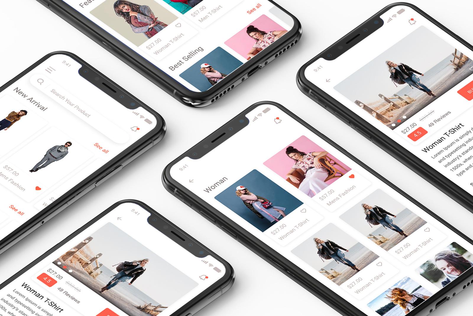 E-commerceappuikit-mock