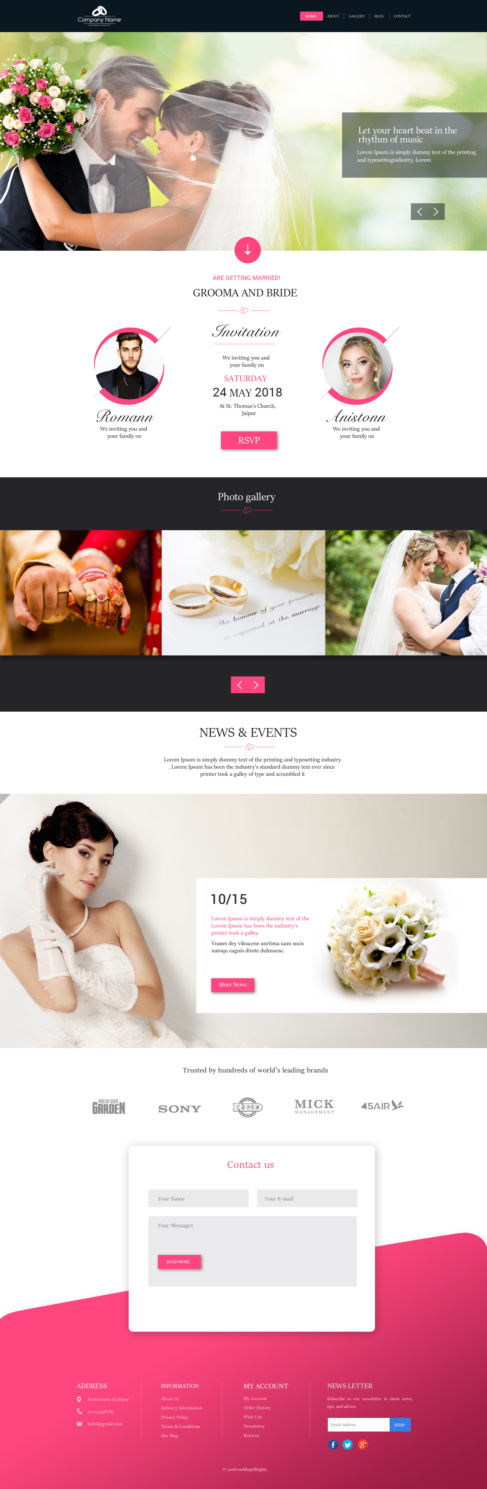 Wedding Home page (2)