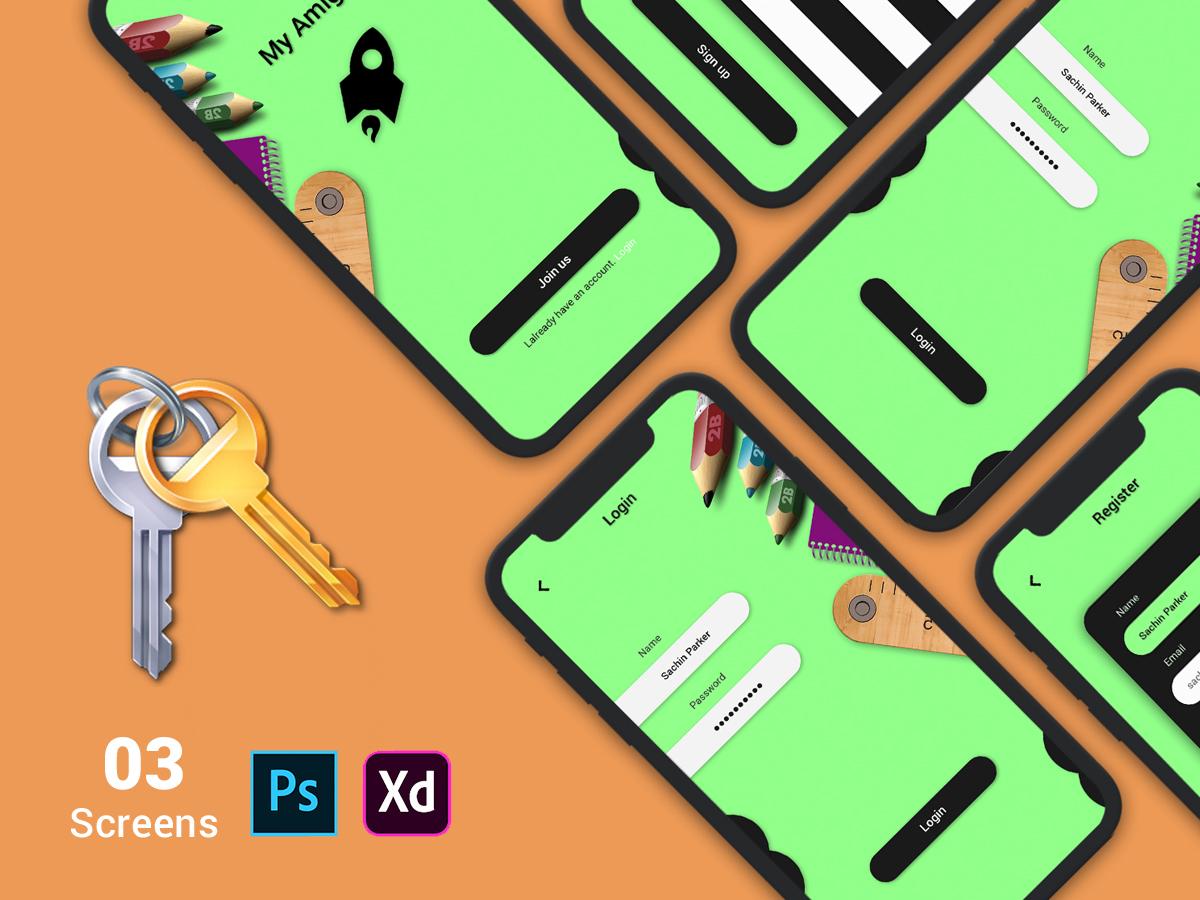 Mobile-login-ui-kit-2