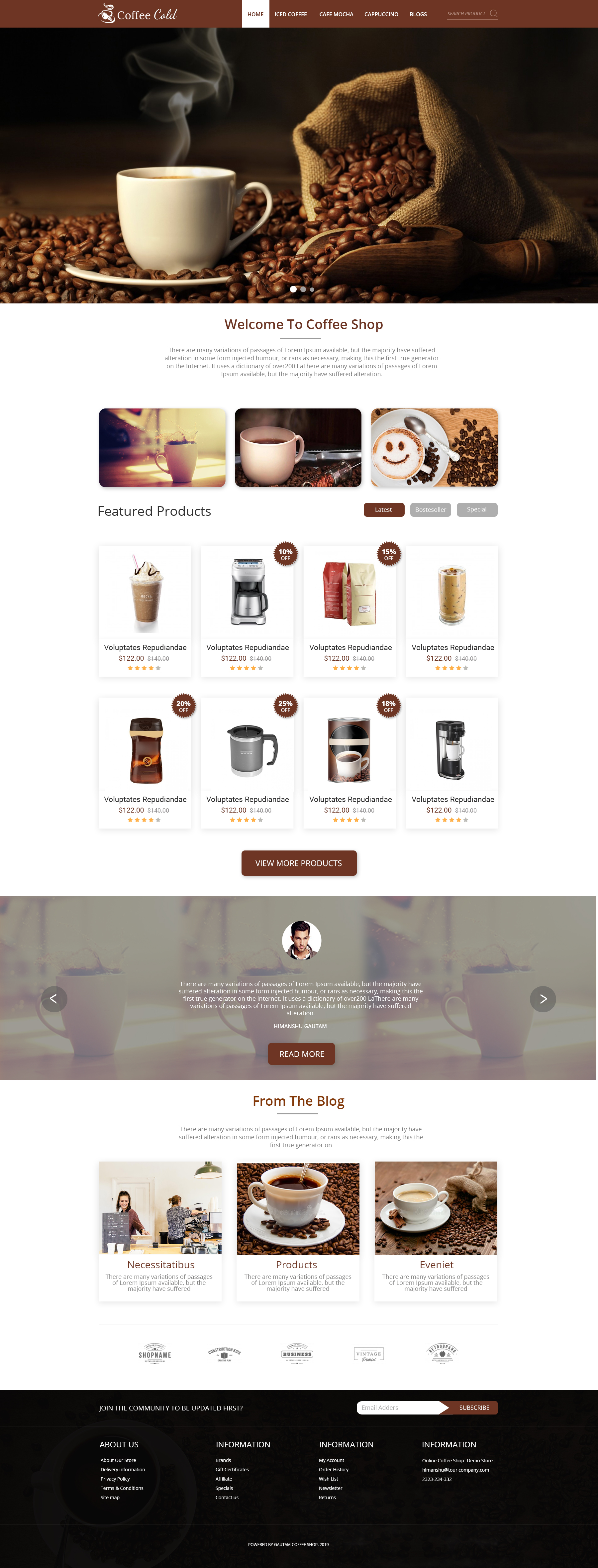 Coffee Home page