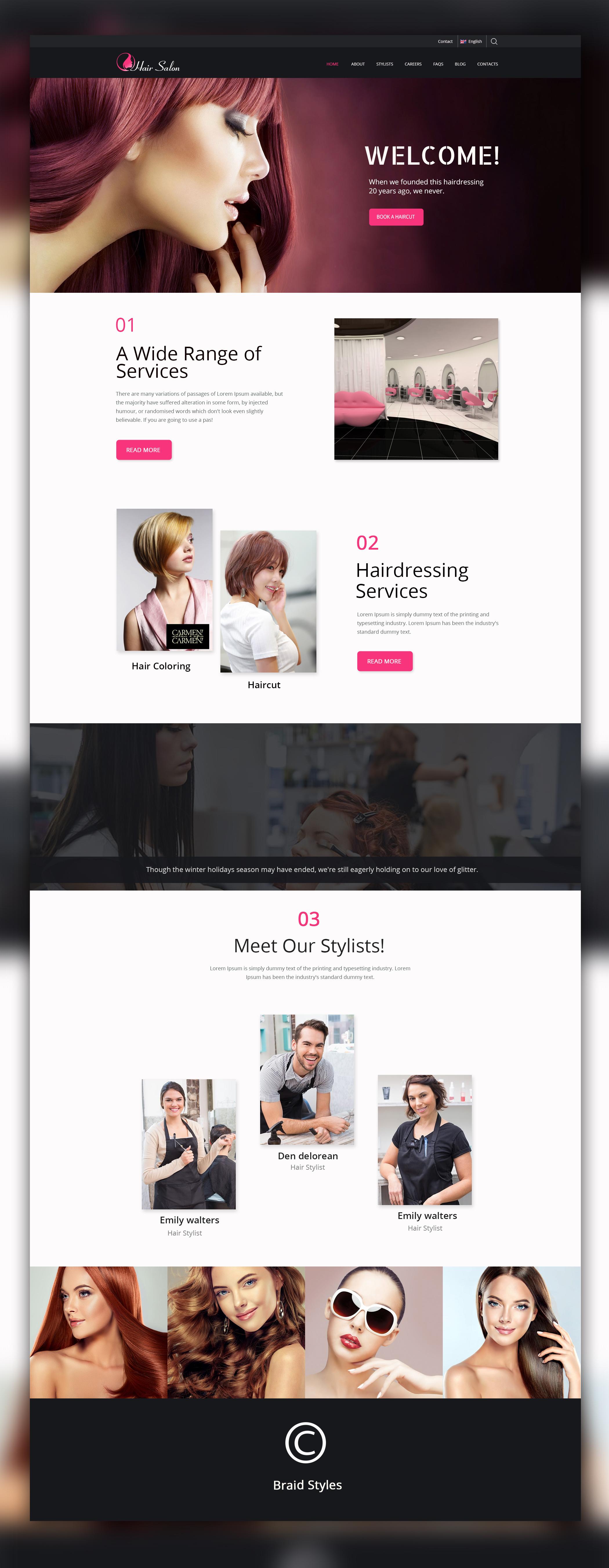 beauty salon website template UI (2)